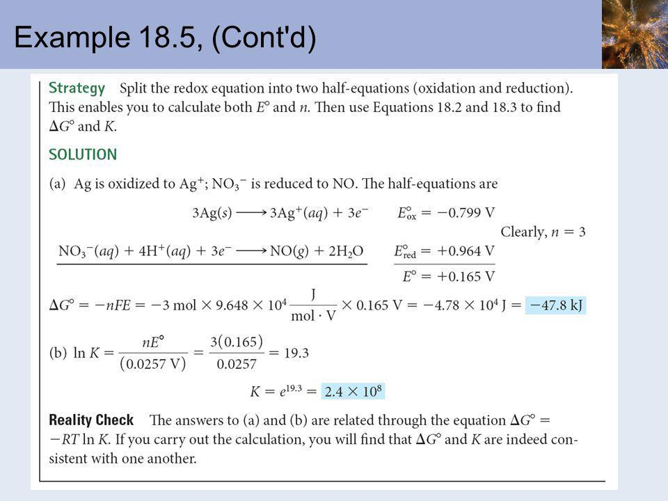 Example 18.5, (Cont d)