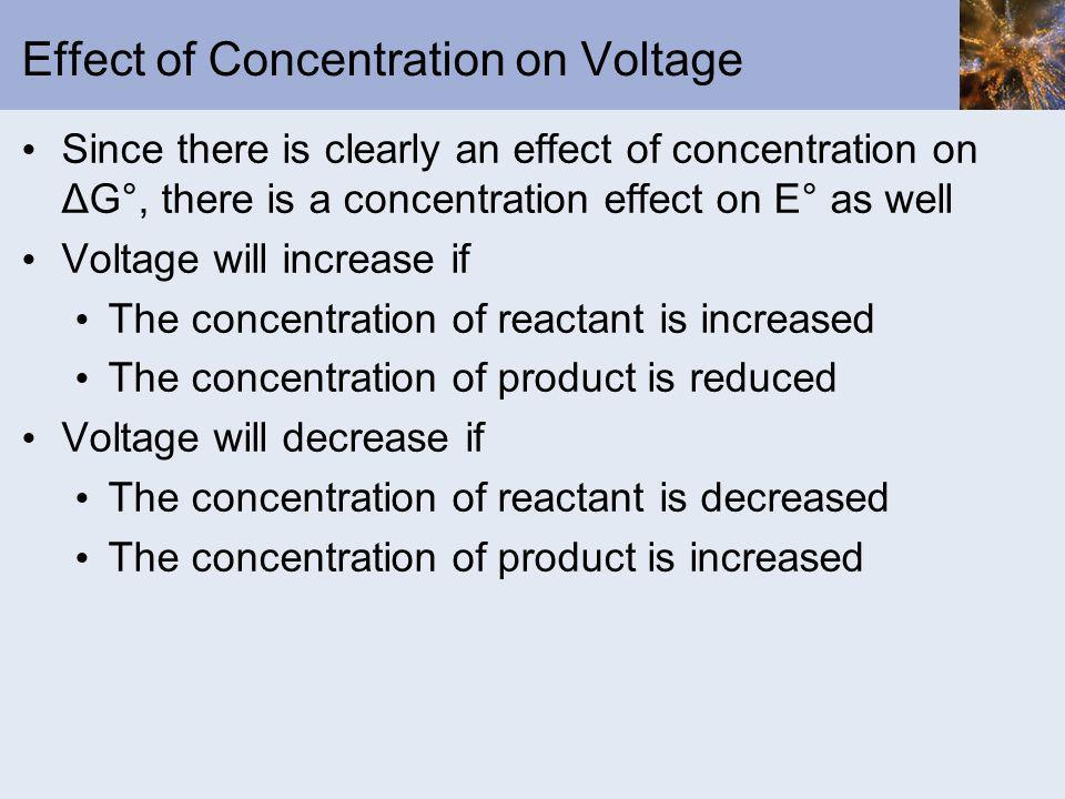 Effect of Concentration on Voltage