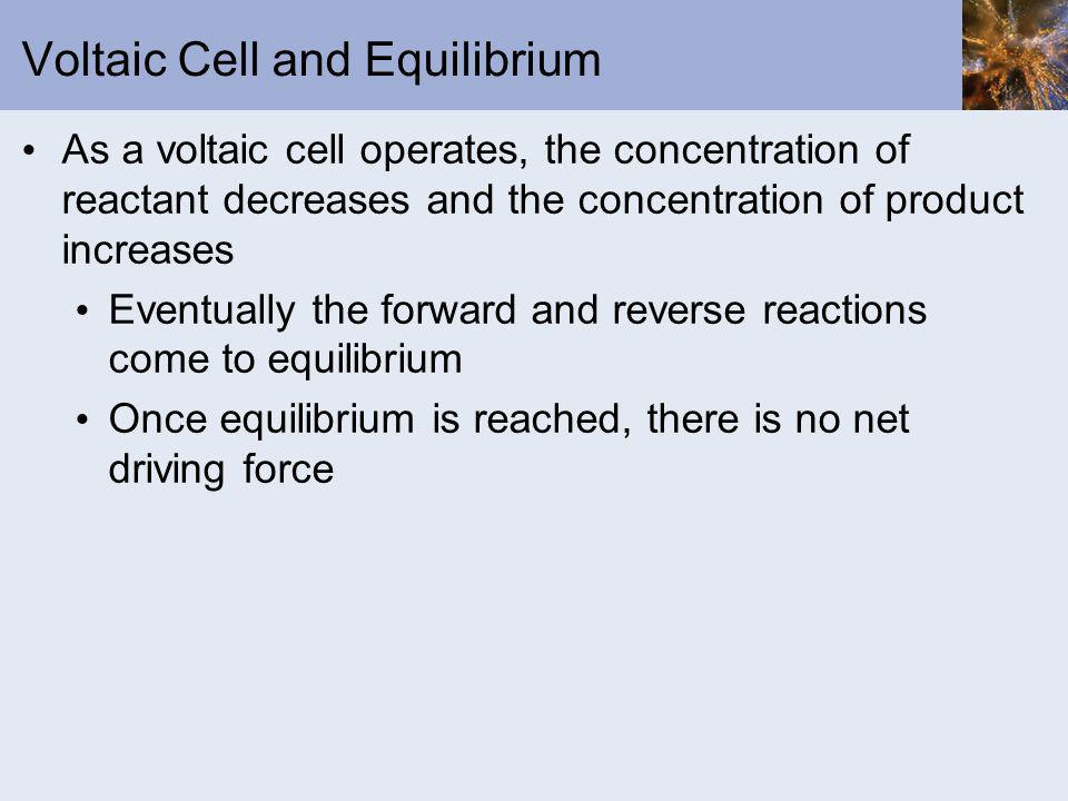 Voltaic Cell and Equilibrium