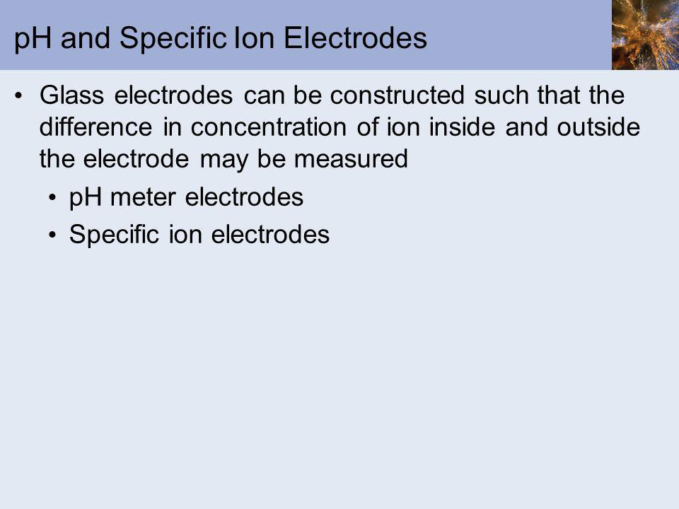 pH and Specific Ion Electrodes