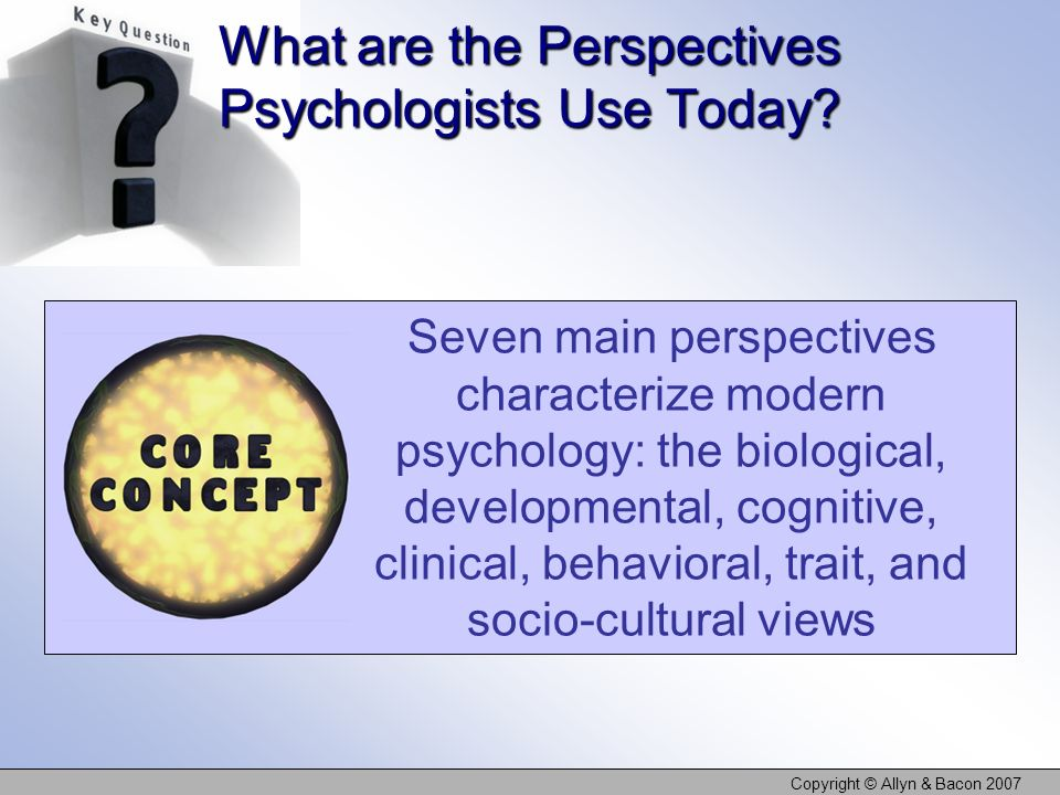 What are the Perspectives Psychologists Use Today