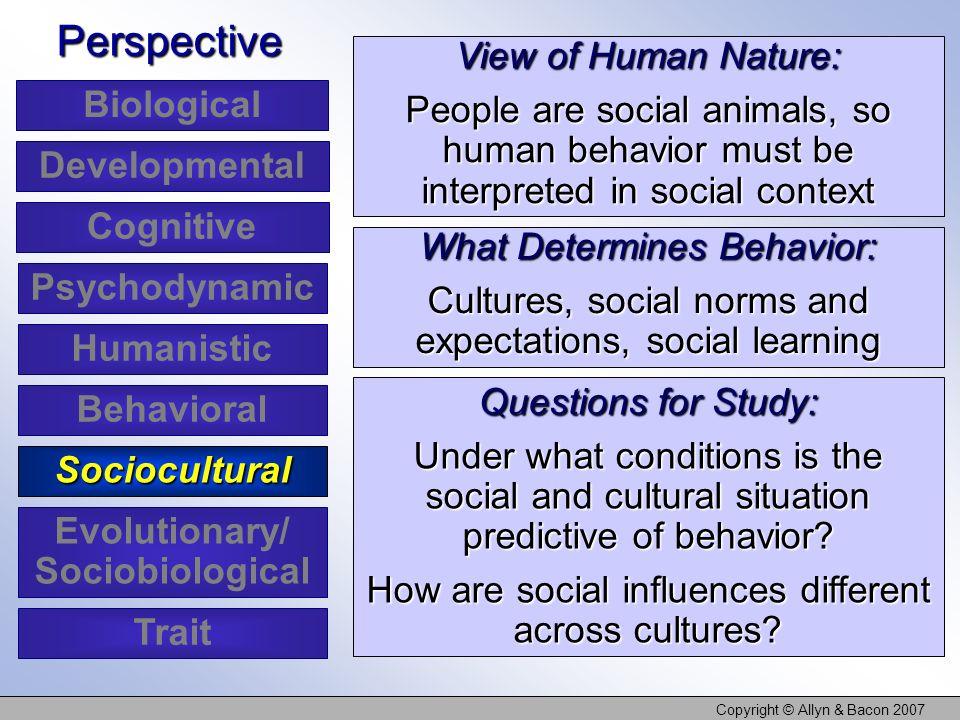 Evolutionary/ Sociobiological