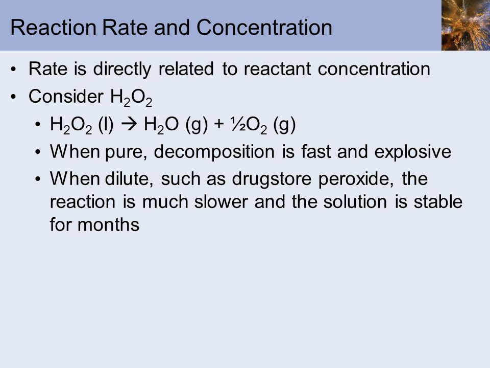 Reaction Rate and Concentration