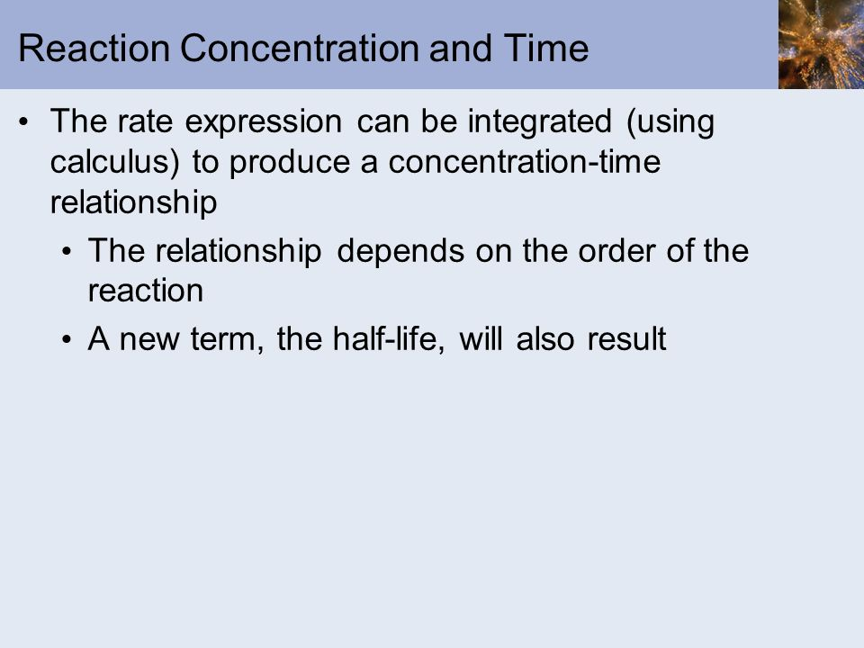 Reaction Concentration and Time