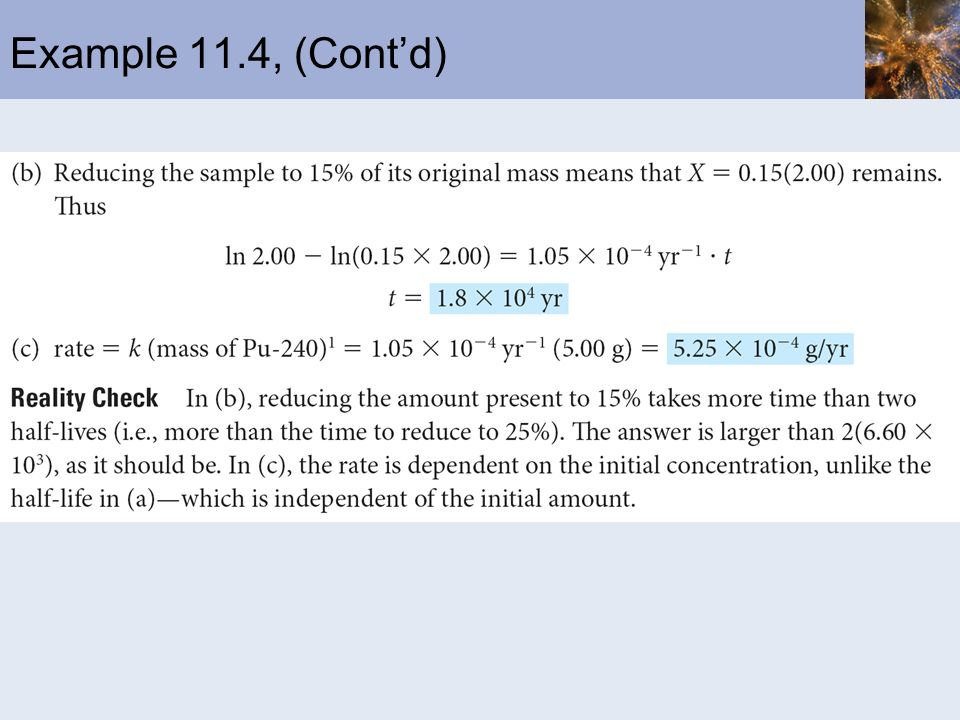Example 11.4, (Cont'd)