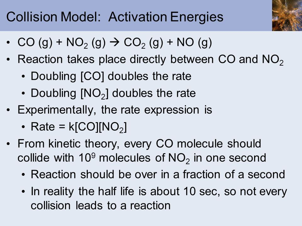 Collision Model: Activation Energies