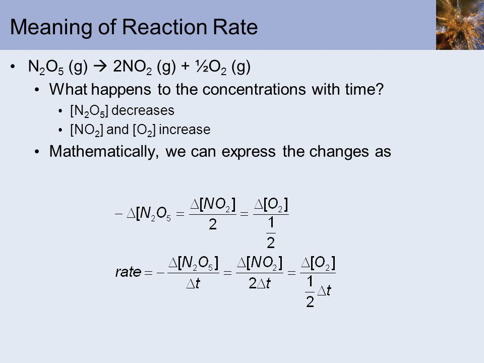 Meaning of Reaction Rate