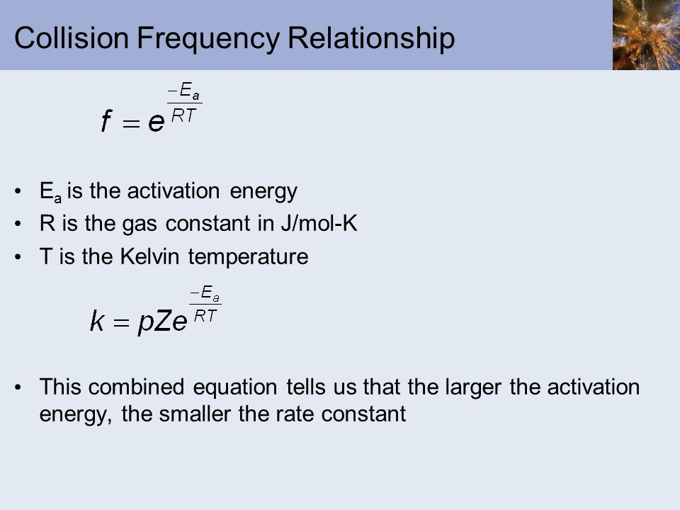 Collision Frequency Relationship