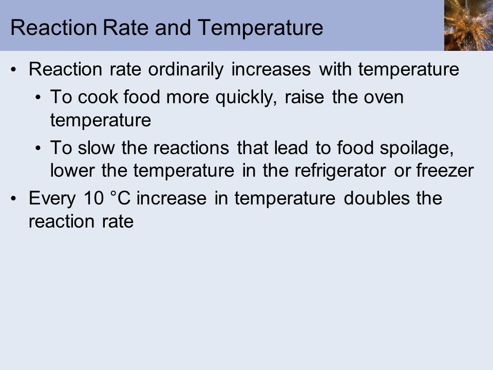 Reaction Rate and Temperature
