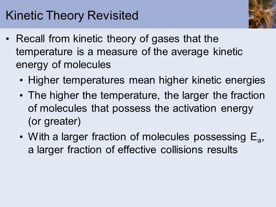 Kinetic Theory Revisited