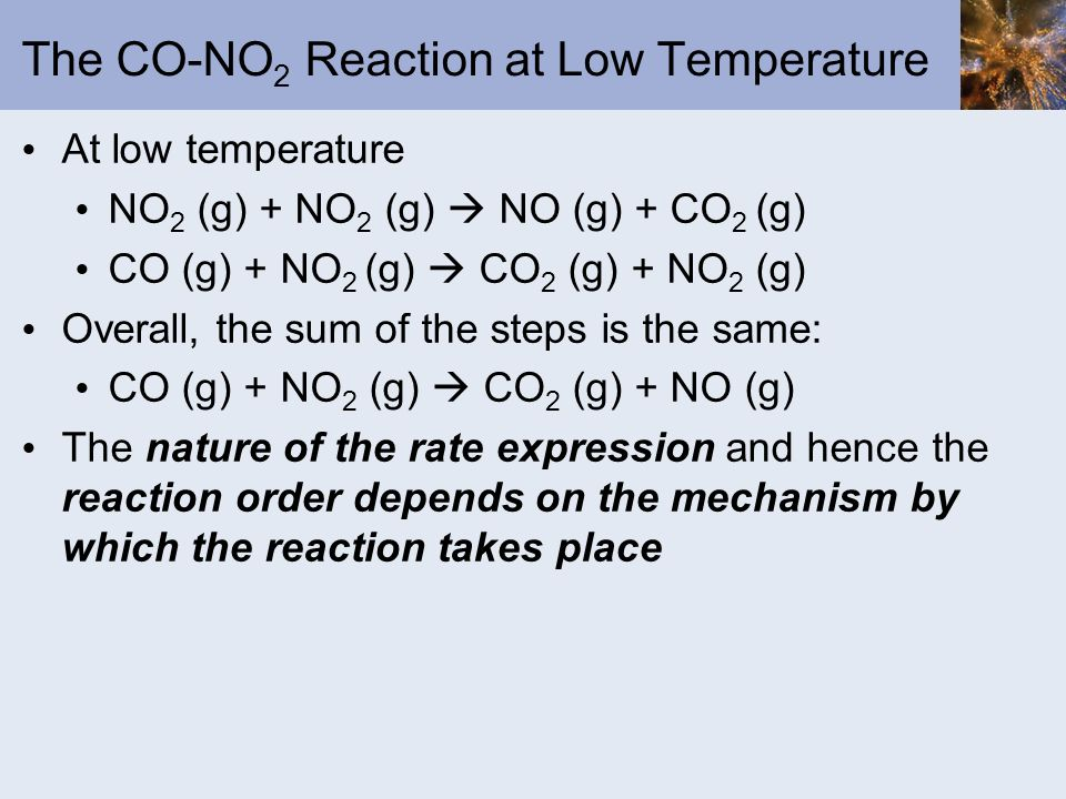 The CO-NO2 Reaction at Low Temperature