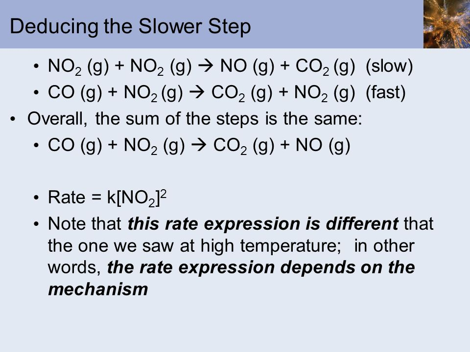 Deducing the Slower Step