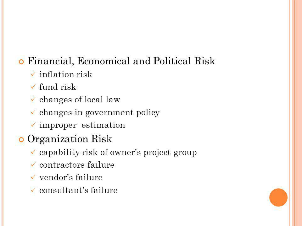 Financial, Economical and Political Risk