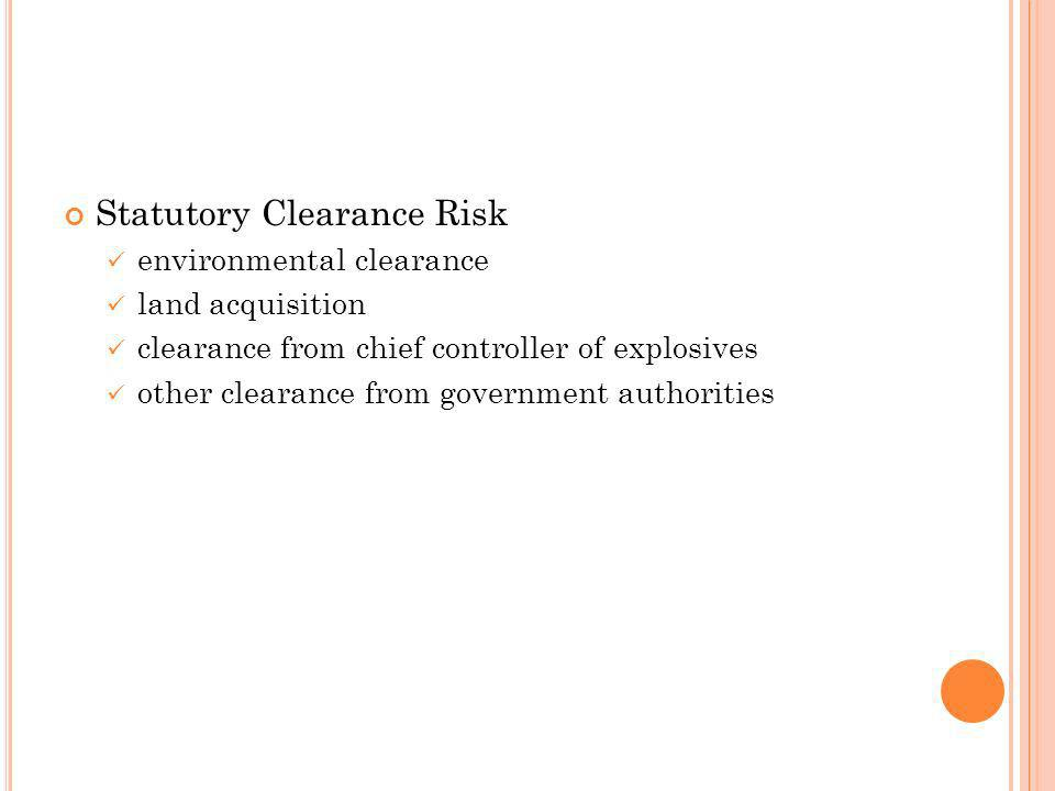 Statutory Clearance Risk