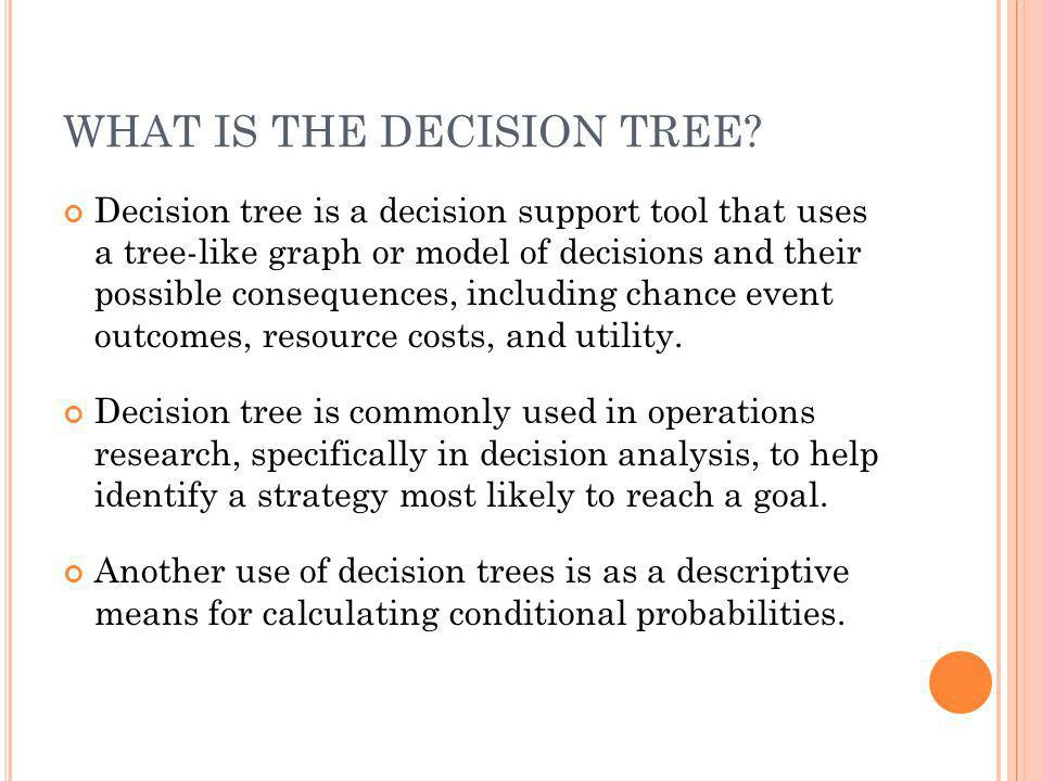 WHAT IS THE DECISION TREE