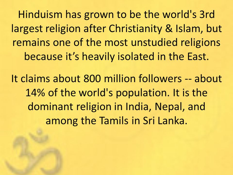 Introduction To Eastern Religions Ppt Video Online Download - 3 largest religions