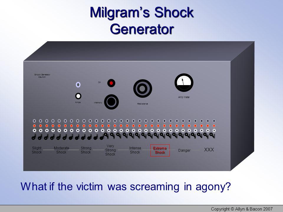 Milgram's Shock Generator