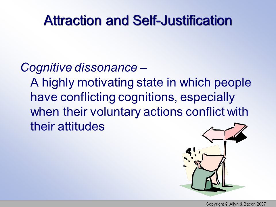Attraction and Self-Justification