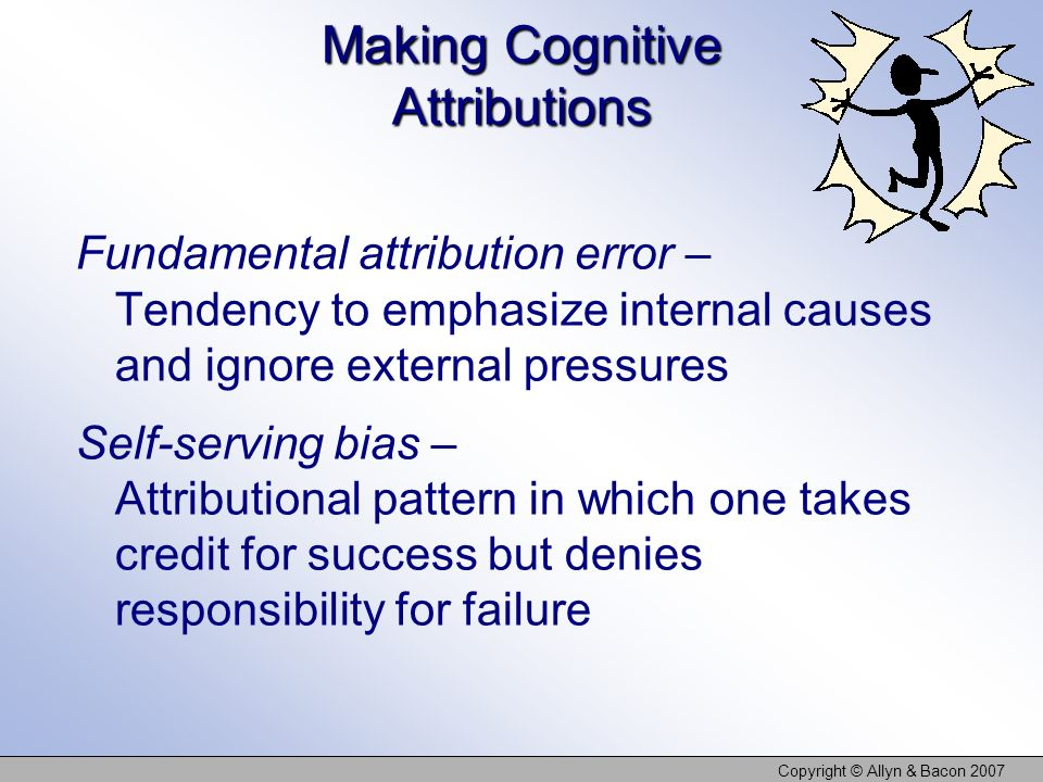 Making Cognitive Attributions