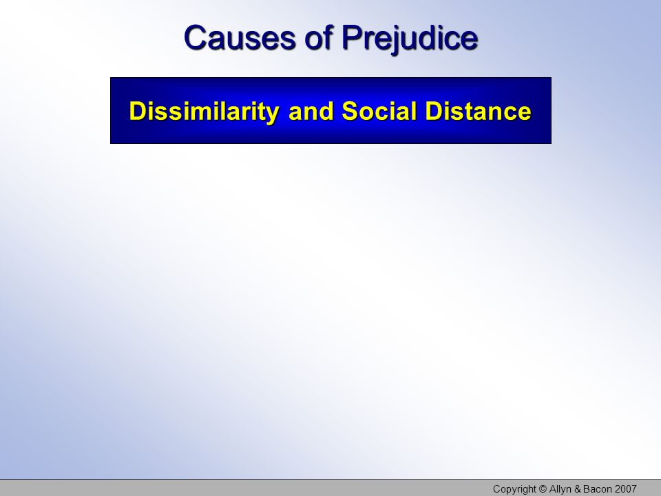Dissimilarity and Social Distance