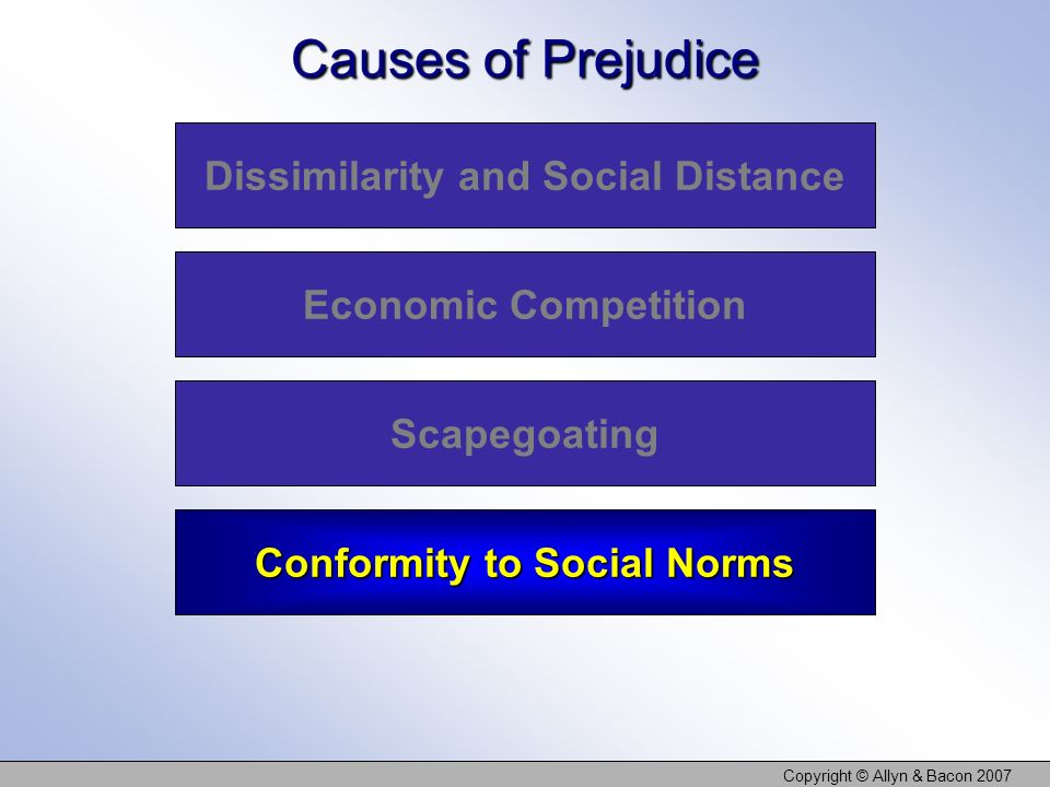 Dissimilarity and Social Distance Conformity to Social Norms