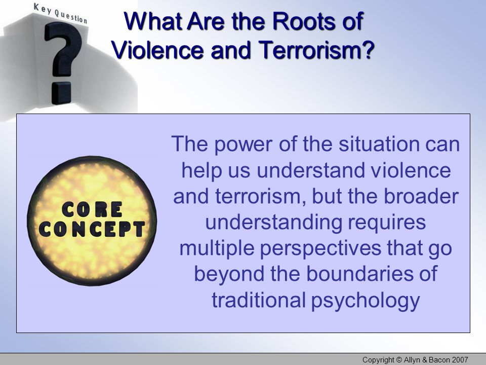 What Are the Roots of Violence and Terrorism