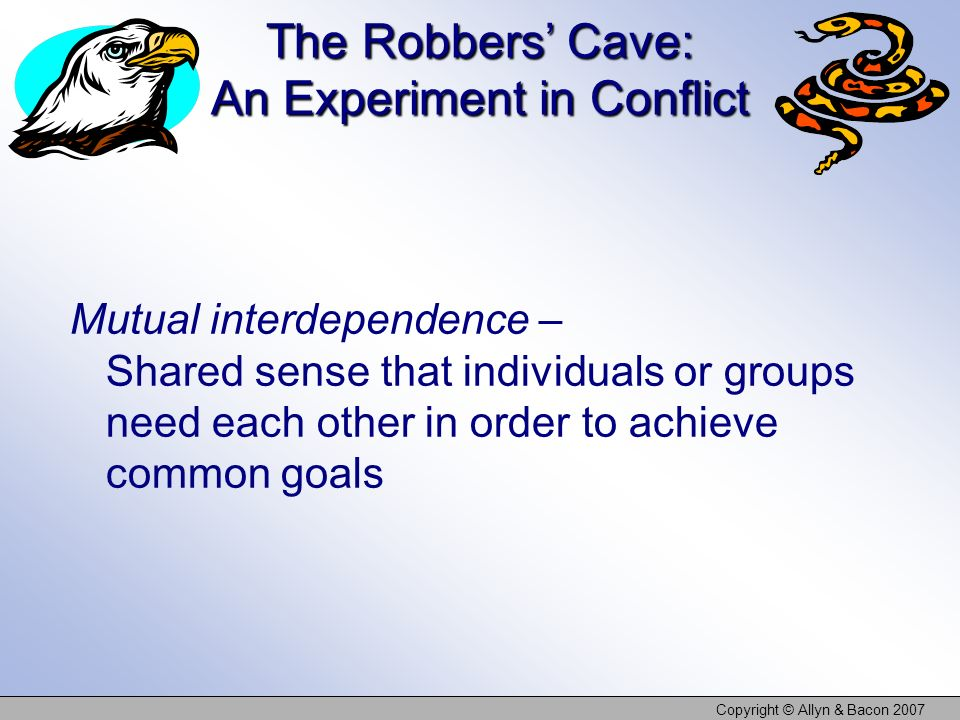 The Robbers' Cave: An Experiment in Conflict