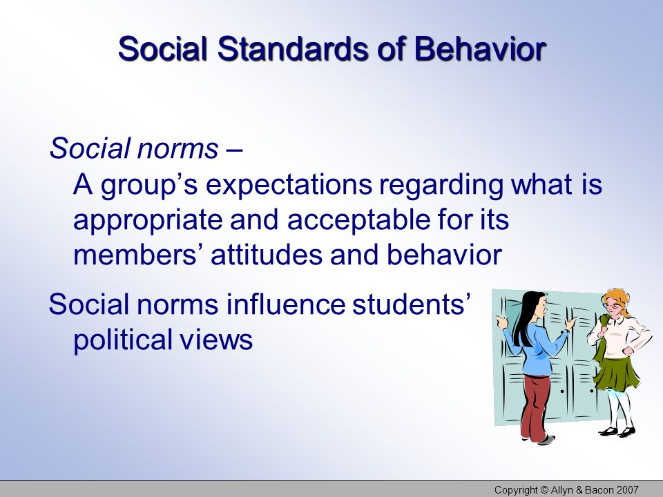 Social Standards of Behavior