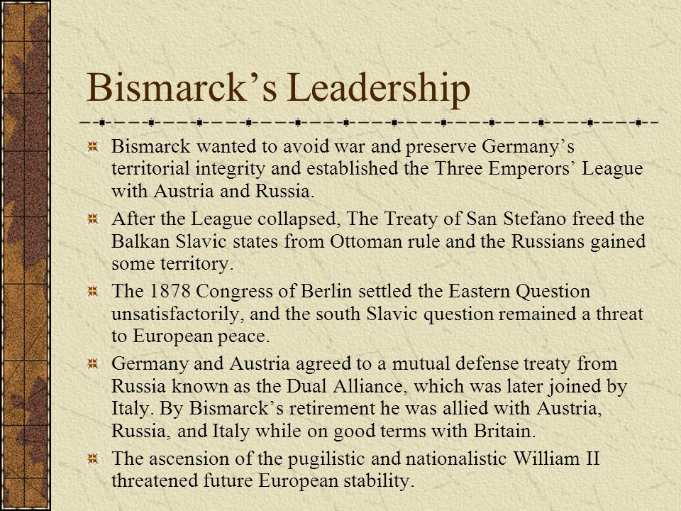 Bismarck's Leadership