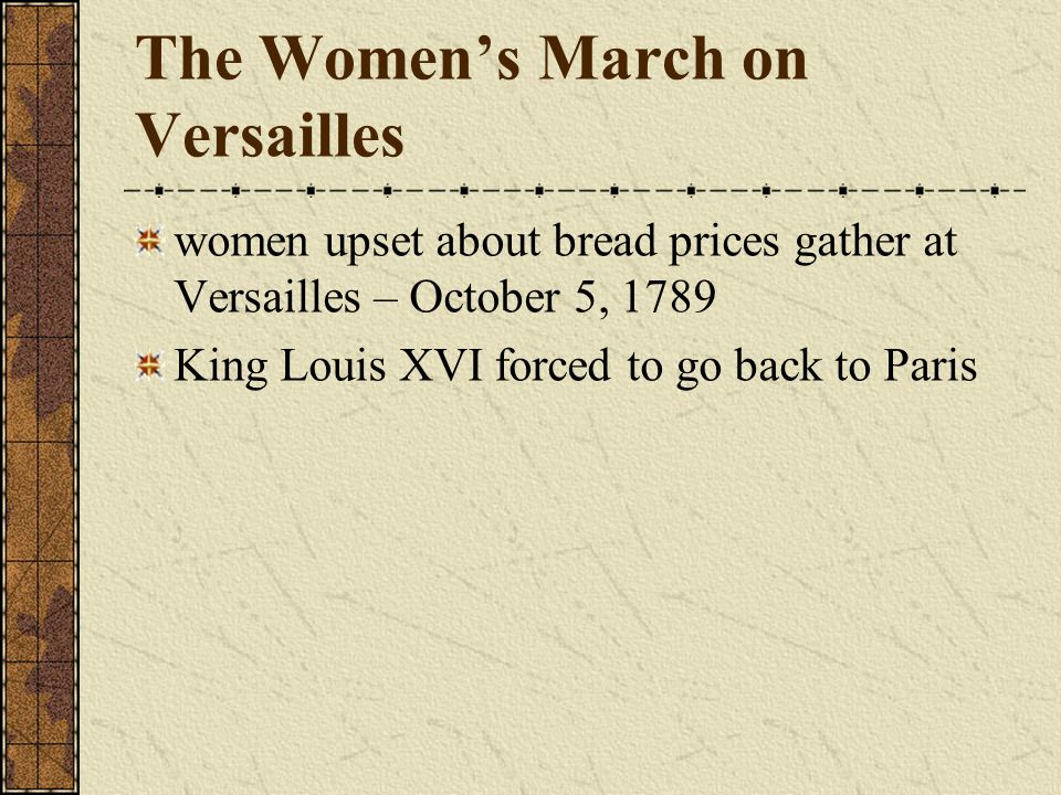 The Women's March on Versailles