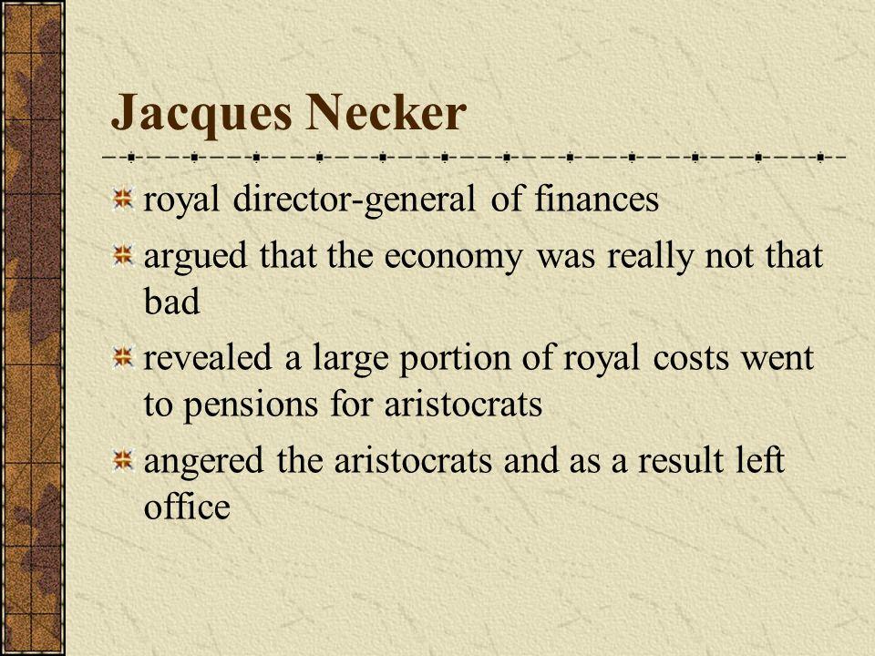 Jacques Necker royal director-general of finances