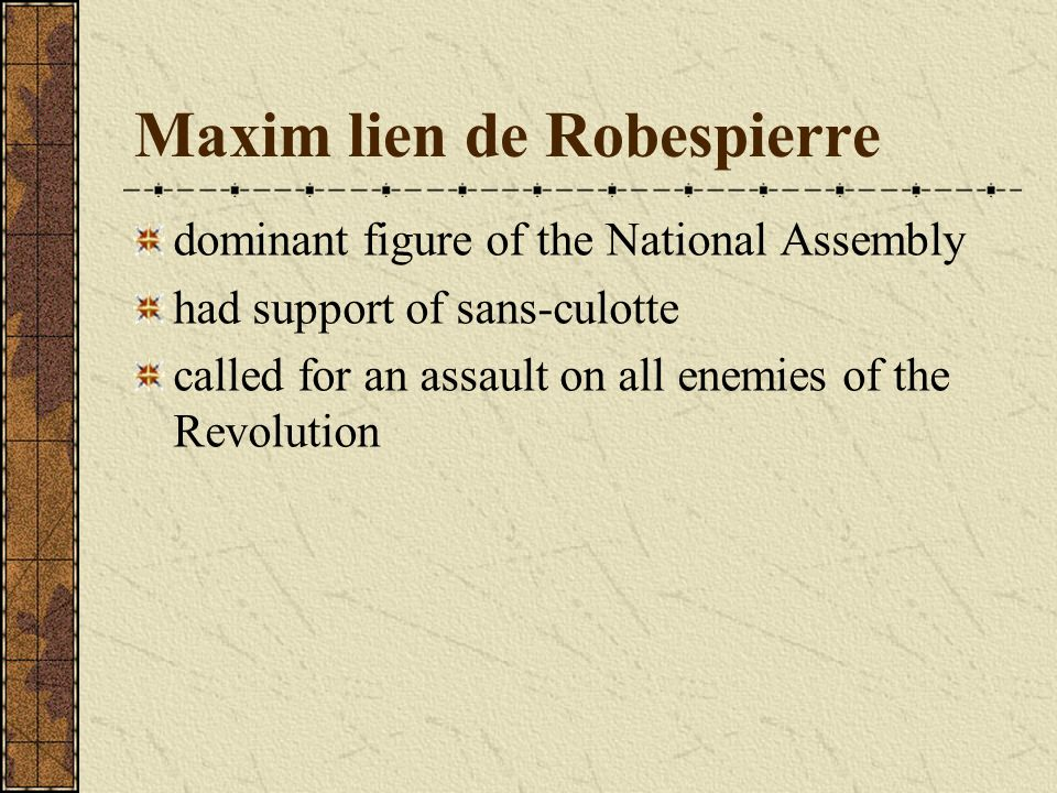 Maxim lien de Robespierre