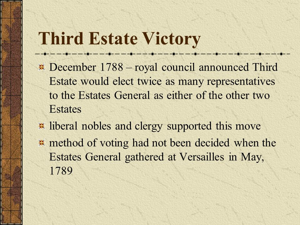 Third Estate Victory