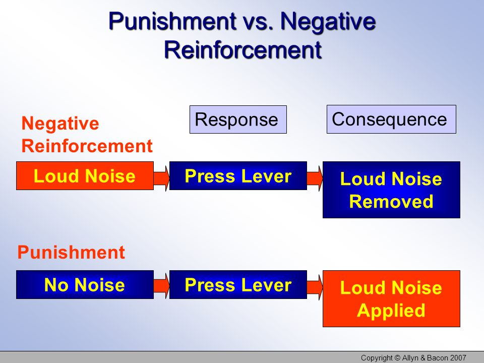 Punishment vs. Negative Reinforcement