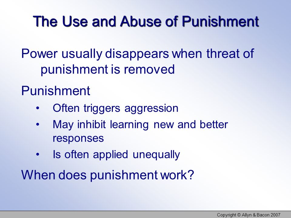The Use and Abuse of Punishment