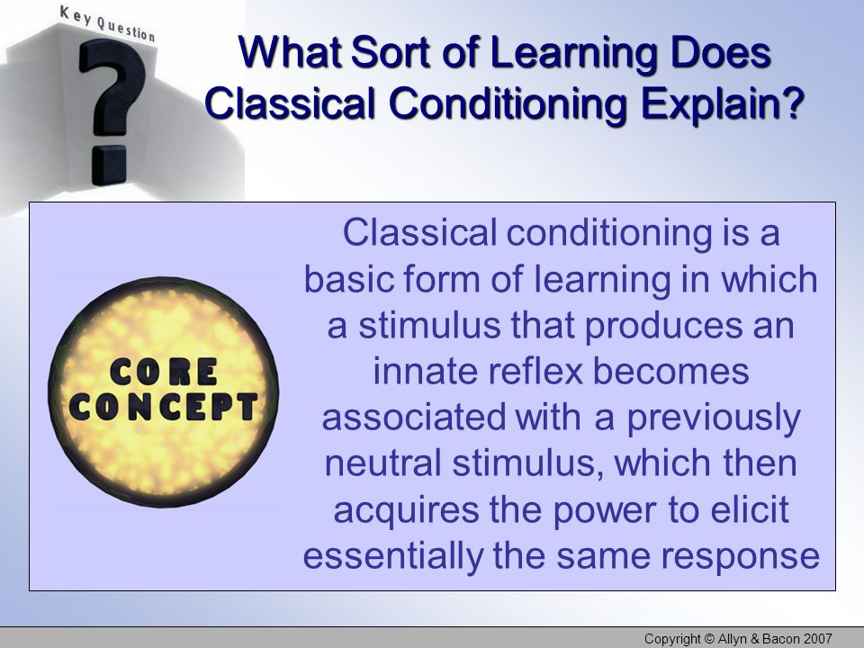 What Sort of Learning Does Classical Conditioning Explain