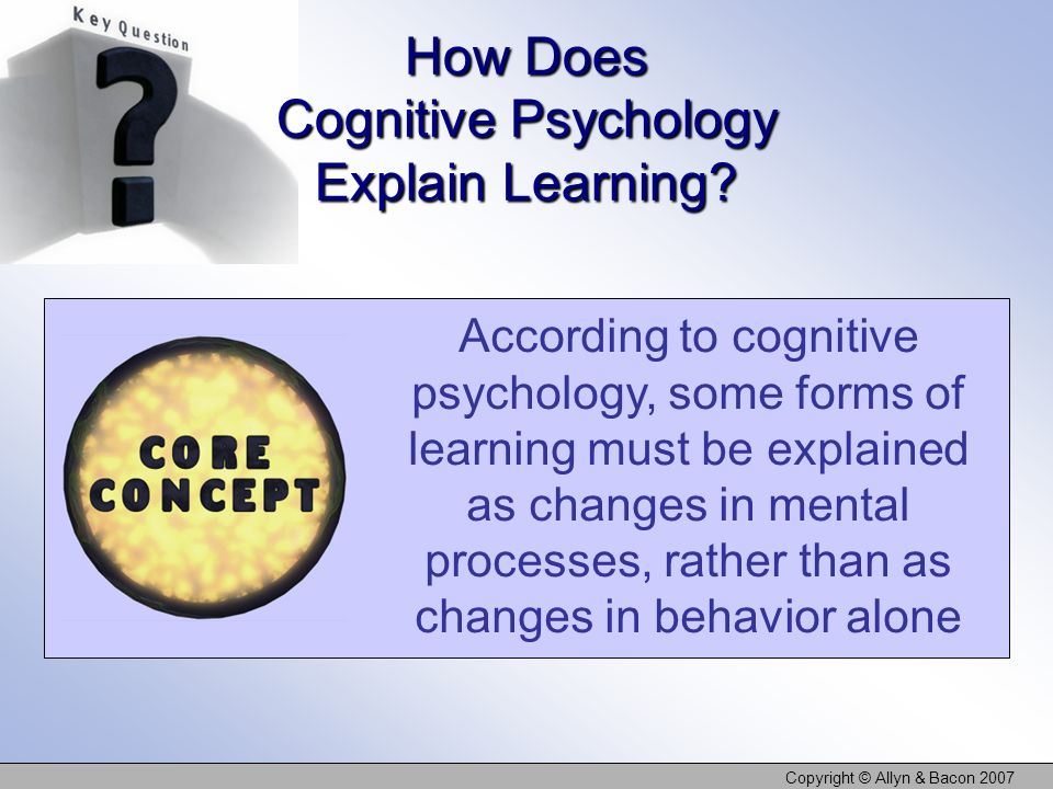 How Does Cognitive Psychology Explain Learning