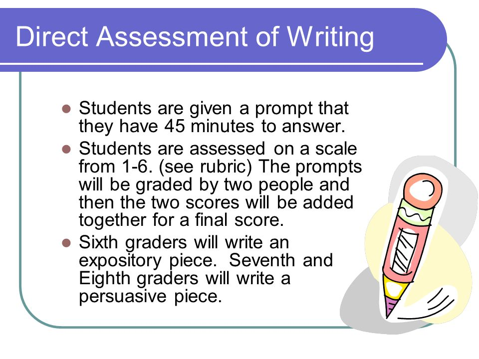 Direct Assessment of Writing