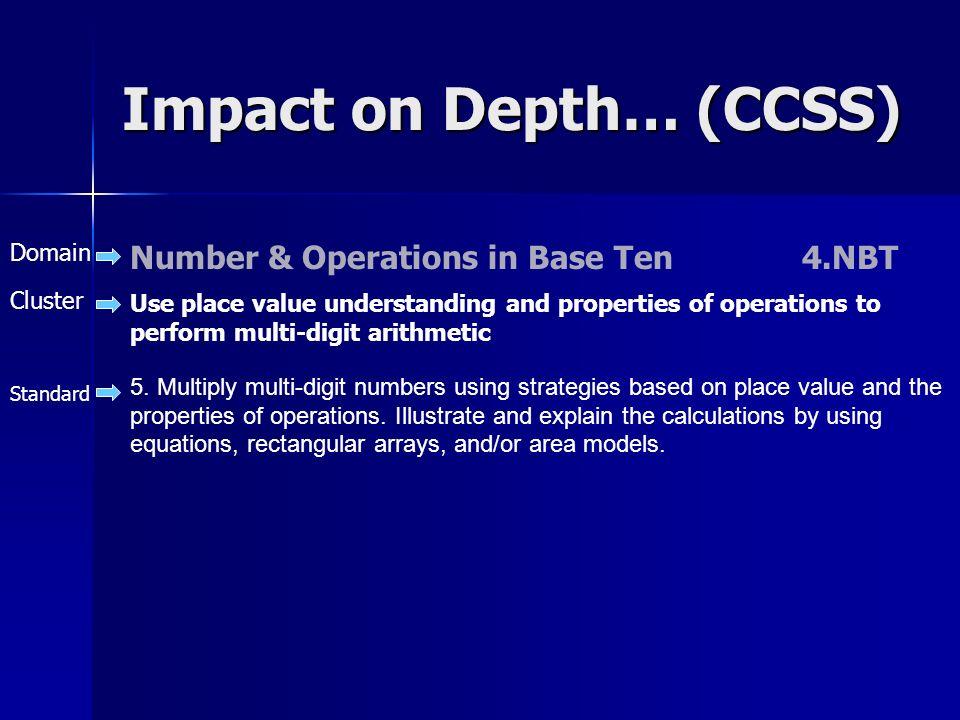 Impact on Depth… (CCSS)