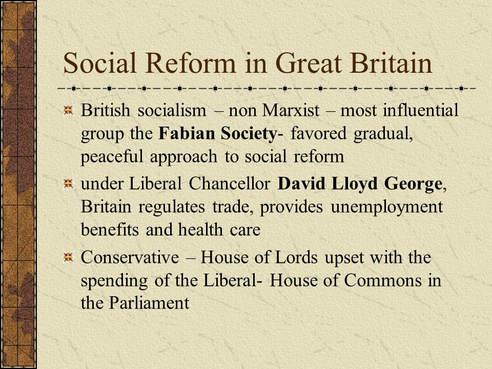 Social Reform in Great Britain