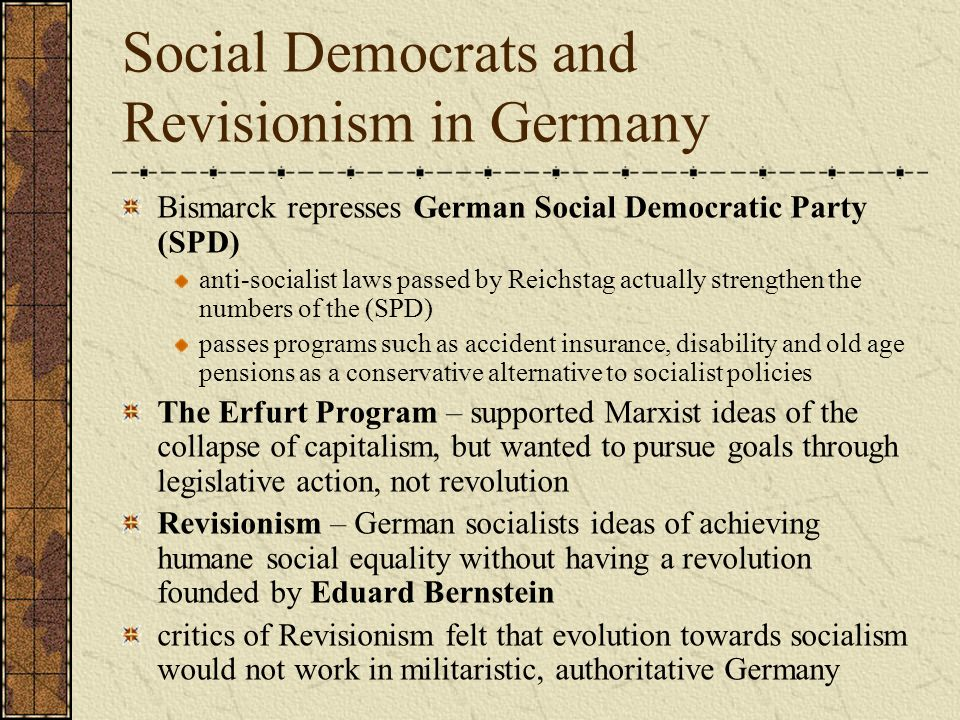 Social Democrats and Revisionism in Germany