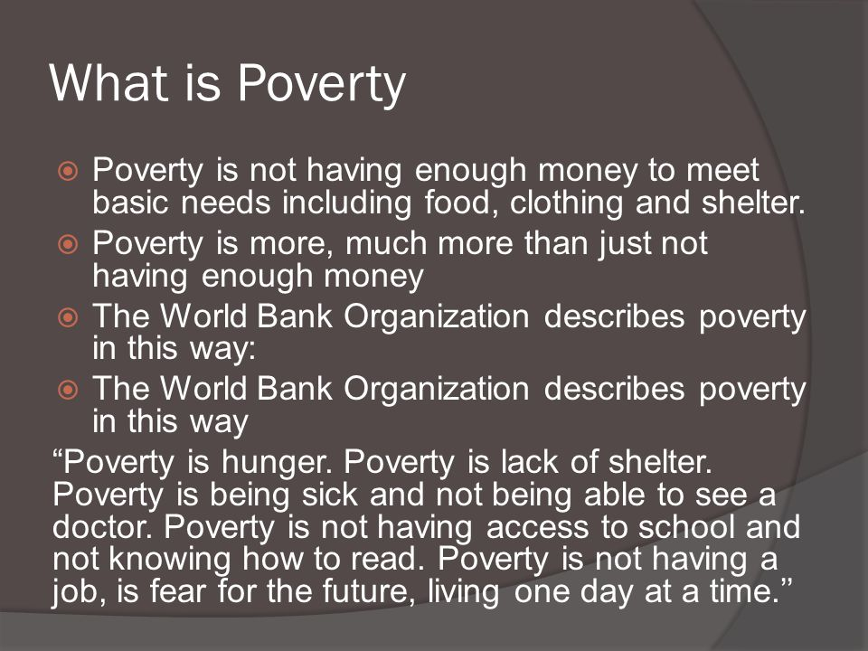 sbm poverty At sbm itb, we challenge you to love the unknown a little bit more (sdgs) such as eliminating poverty, reducing inequality, and climate action.