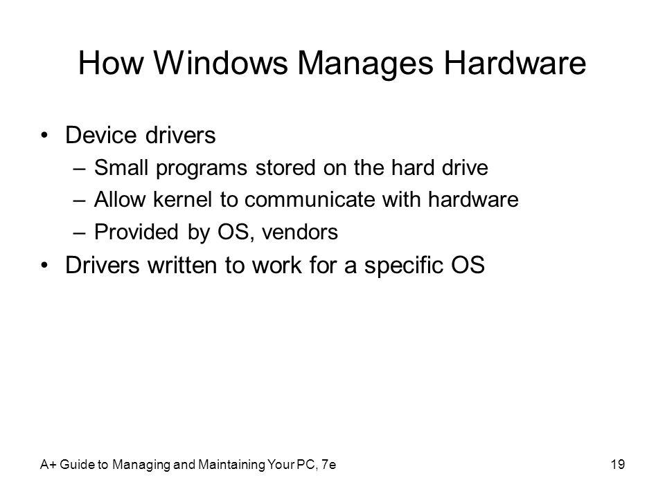 How Windows Manages Hardware