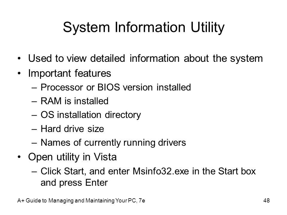 System Information Utility