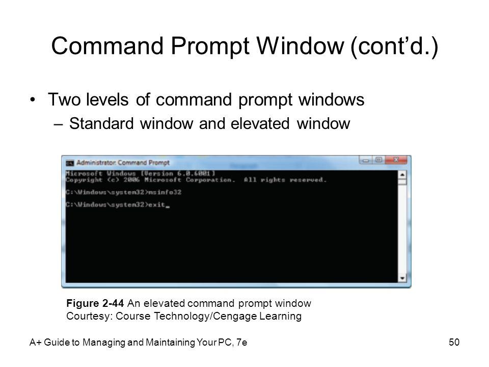 Command Prompt Window (cont'd.)