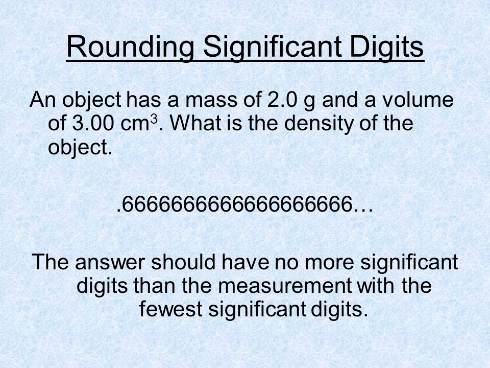 Rounding Significant Digits