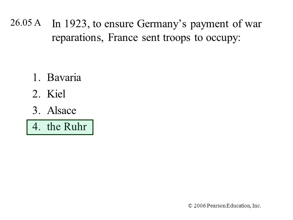 Bavaria Kiel Alsace the Ruhr