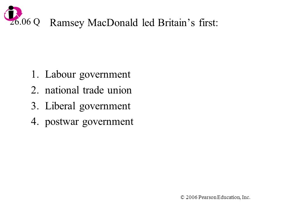 Ramsey MacDonald led Britain's first:
