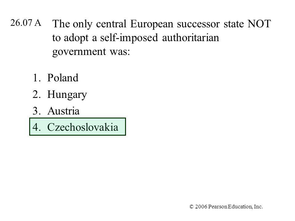 Poland Hungary Austria Czechoslovakia