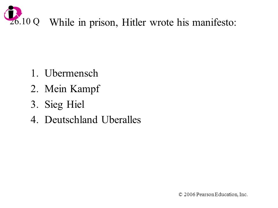 While in prison, Hitler wrote his manifesto: